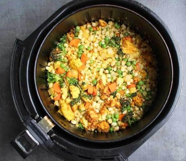 Air Fryer Cauliflower Rice