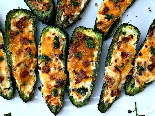 Air Fryer Stuffed Jalapeno Poppers