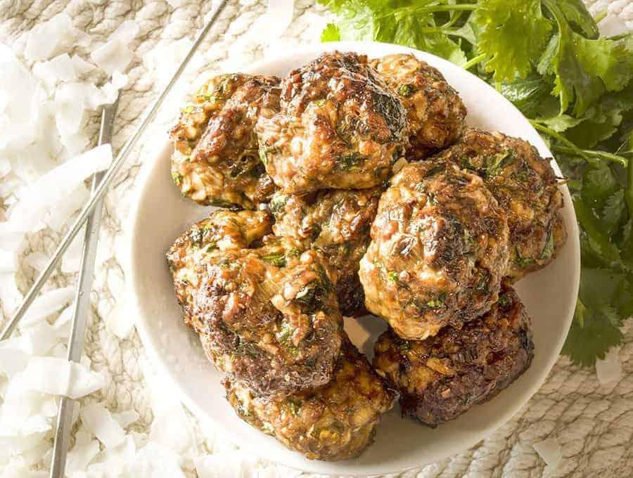 chicken coconut meatballs